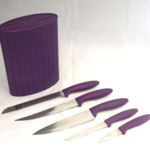 6-delni komplet kuhinjskih nožev v dveh barvah